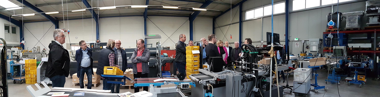 Freie Wähler Albstadt bei der Firma Diebold Druckerei & Direktmarketing