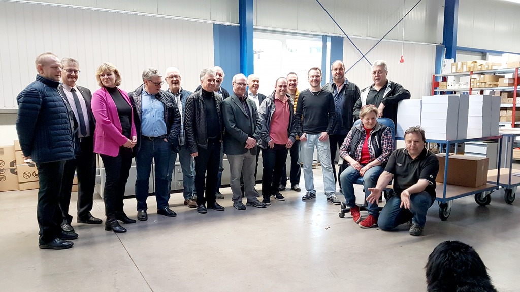 Die Freien Wähler Albstadt bei der Druckerei Diebold